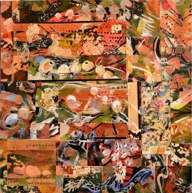 Sara Ware Howsam Painting Crazy Quilt Acrylic Paper Collage