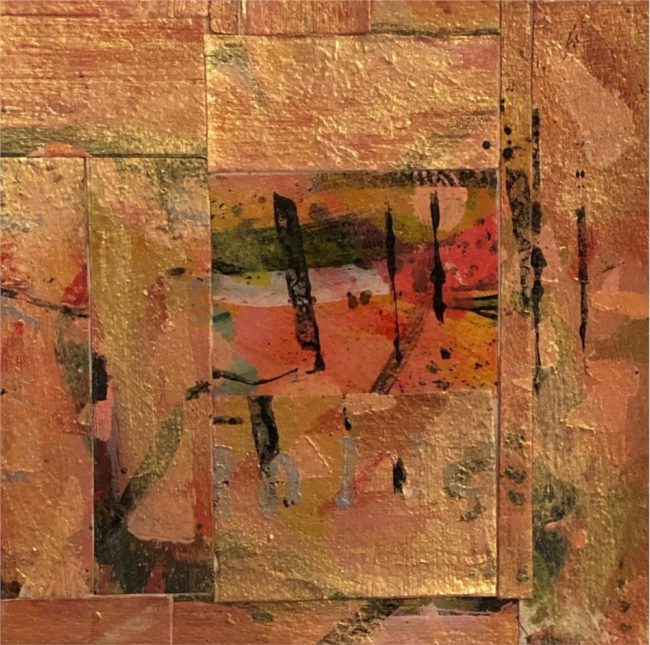 Sara Ware Howsam Painting Desert Silence Acrylic Paper Collage