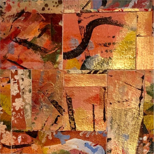 Sara Ware Howsam Painting Moonacre Acrylic Paper Collage