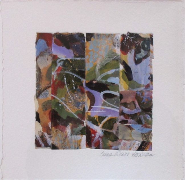 Sara Ware Howsam Painting Silent Sounds Mixed Media on Paper