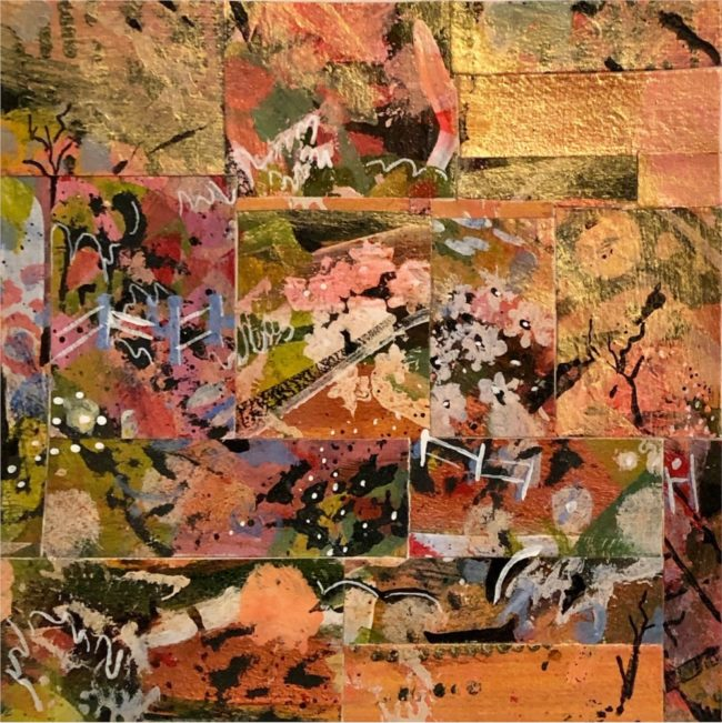 Sara Ware Howsam Painting Softly in a Sunrise Acrylic Paper Collage