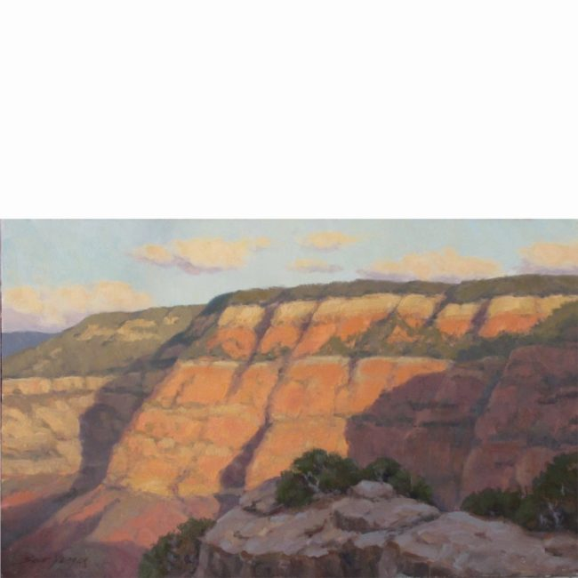 Scott Yeager Painting Canyon Walls Oil on Board