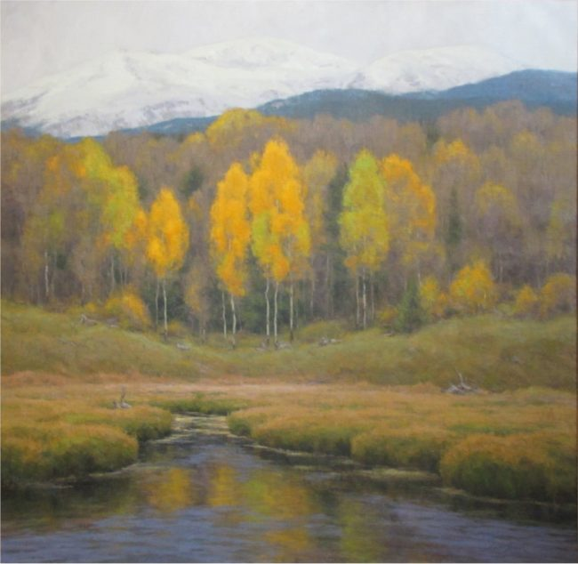 Scott Yeager Painting The Softer Side of Autumn Oil on Canvas