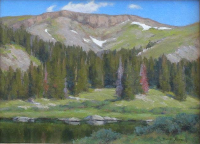 Scott Yeager Painting Timberline Oil on Board