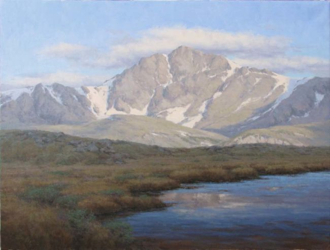 Scott Yeager Painting View from the Pass Oil on Board