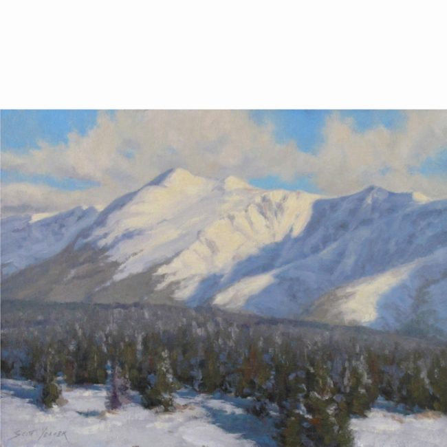 Scott Yeager Painting Waking Up to Fresh Snow Oil on Board