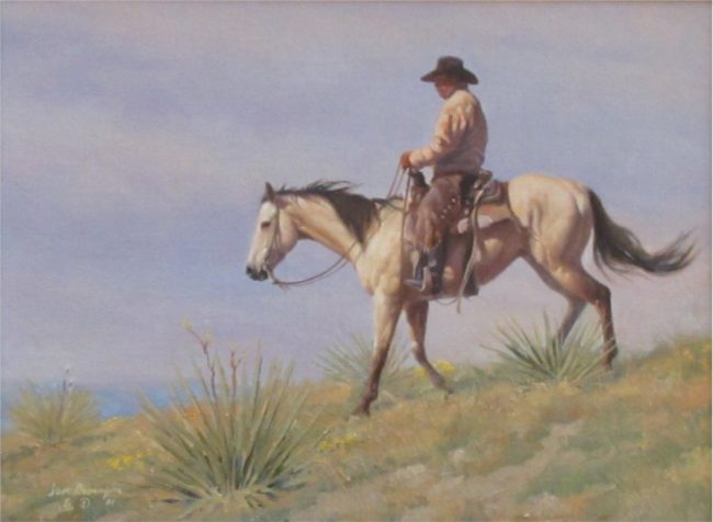 Steve Devenyns Painting Ridin' High Oil on Board
