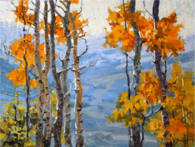 Susie Hyer  The View Through Oil on Board
