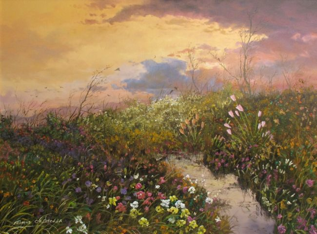 Thomas DeDecker Painting A Restful Place of Peace Oil on Canvas