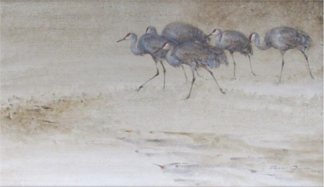 Thomas Quinn Painting Advance of the Sandhills Watercolor