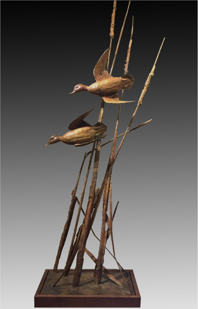 Walter Matia Sculpture Crossing to Safety Bronze