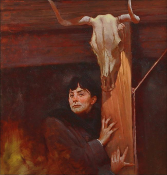 Joseph Lorusso Painting Another Vision (Georgia O'Keeffe) Oil on Panel