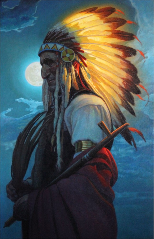 Thomas Blackshear Painting Enlightened Oil on Canvas