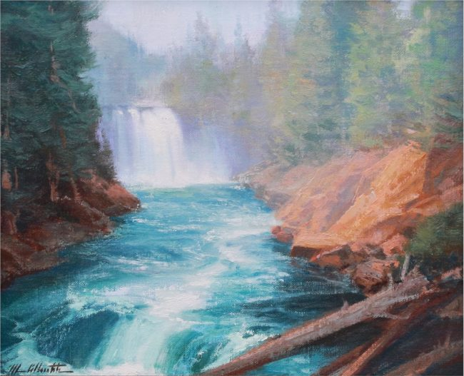 Michael Albrechtsen Painting On a Cool Day Oil on Panel
