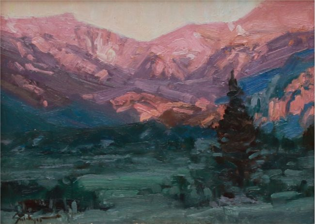 Susie Hyer  First Light Oil on Board
