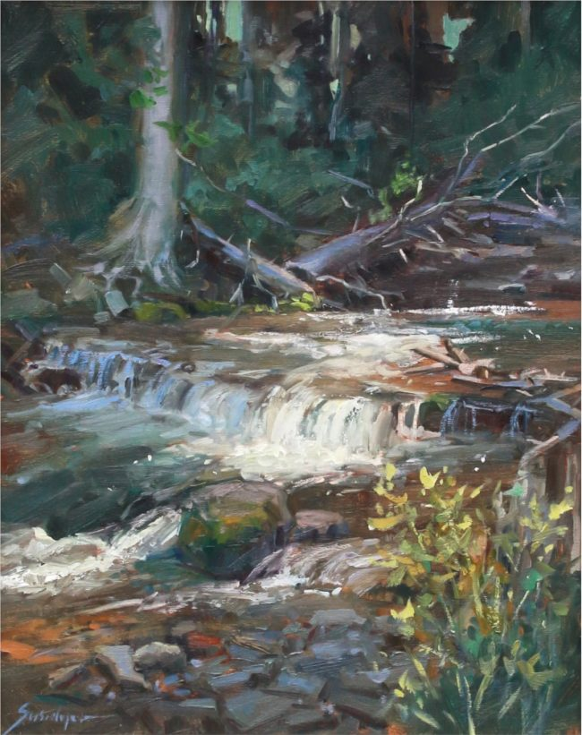Susie Hyer  Maroon Creek in Shadow Oil on Linen
