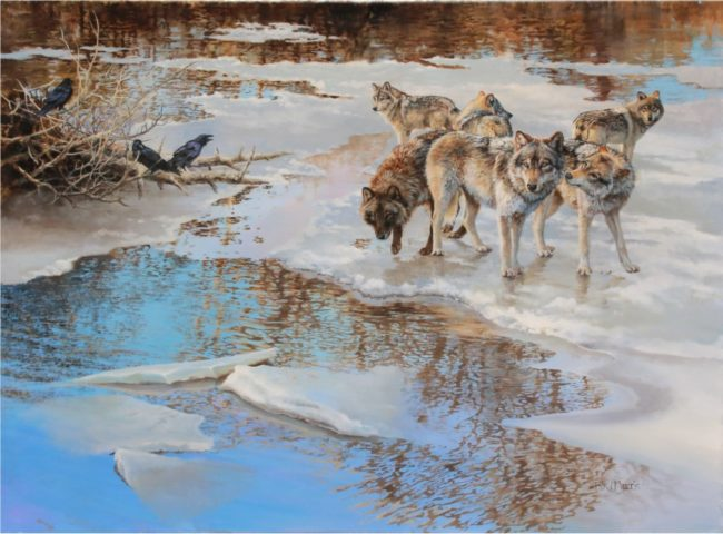 Bonnie Marris Oil on Canvas Early Thaw Oil on Canvas