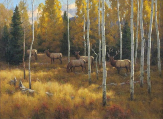 Scott Yeager Painting The Edge of Autumn Oil on Board