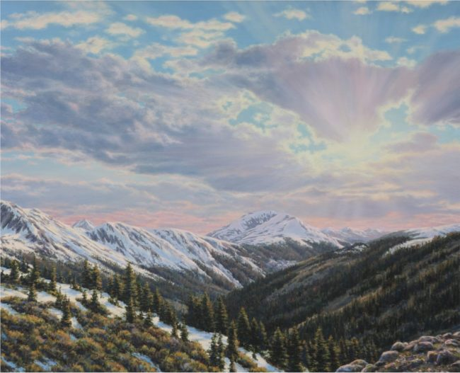 Steve Clement Painting Above Timberline Oil on Canvas