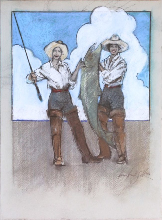 Donna Howell-Sickles Mixed Media Tall Tales From Out West Mixed Media