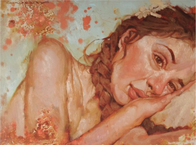 Joseph Lorusso Painting Pixie Oil on Panel
