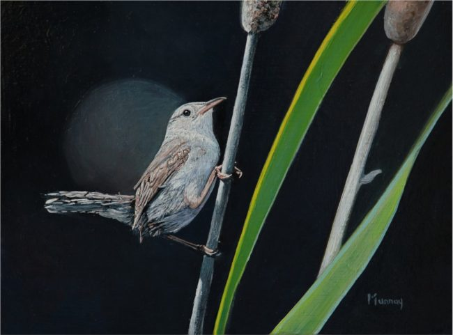 Karla Murray Painting This Wren's World Oil on Board