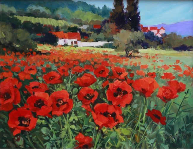 Martha Mans Painting Field of Glory Oil on Canvas