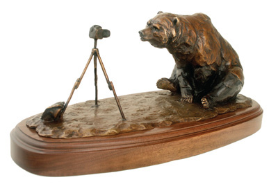 Andrea Wilkinson Sculpture A Kodiak Moment Bronze