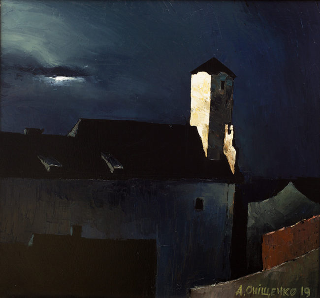Alexandr Onishenko Painting Moonlight Oil on Canvas