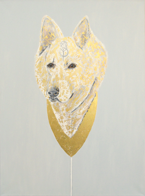 Alexandra Telgmann Painting Dog - Avatar Oil on Canvas