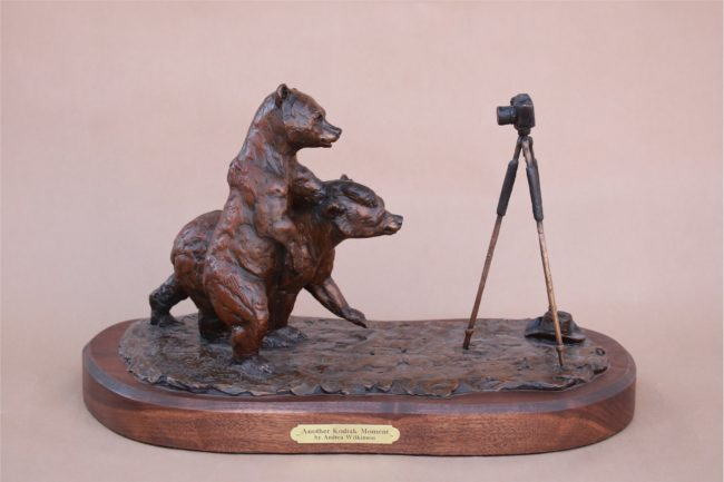 Andrea Wilkinson Sculpture Another Kodiak Moment Bronze