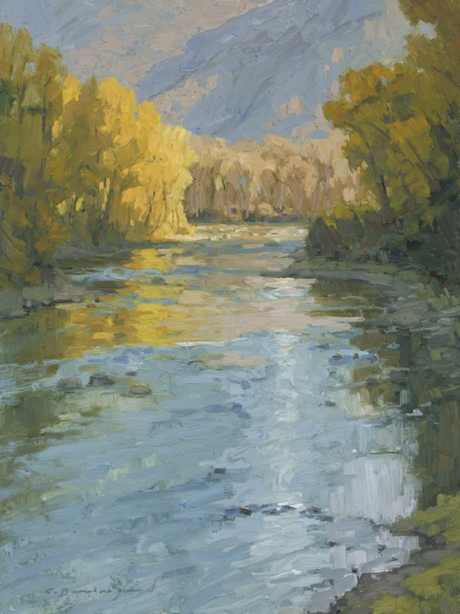 Chula Beauregard Painting First Light on the Elk River Oil on Canvas