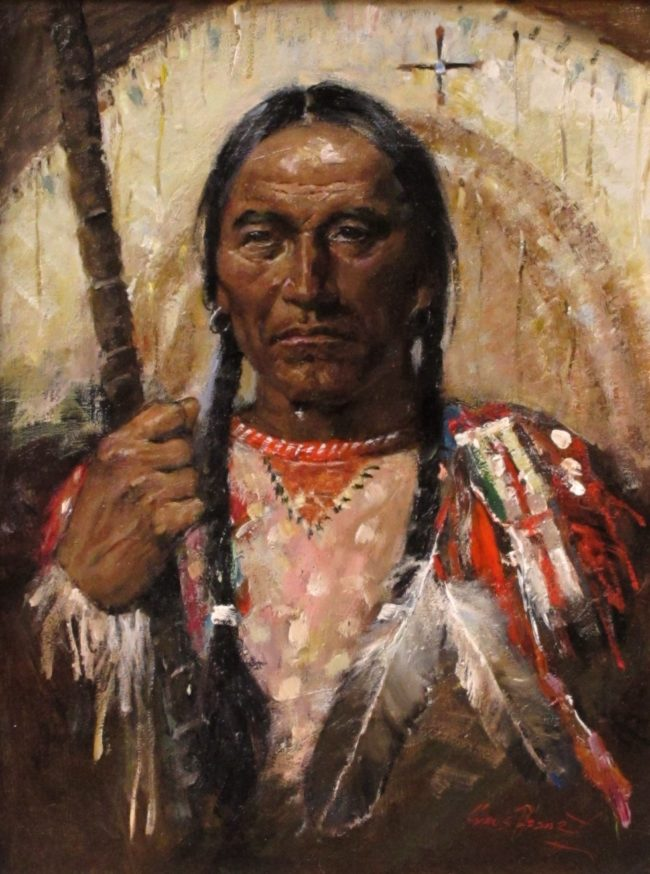 Cyrus Afsary Painting Native Pride Oil on Linen