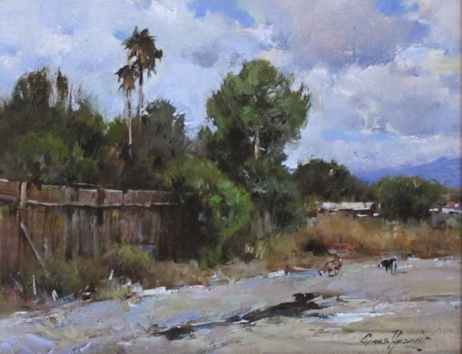 Cyrus Afsary Painting Spring in Pine Oil on Linen