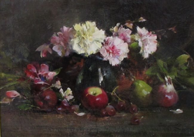 Cyrus Afsary Painting Still Life with Carnations Oil on Linen