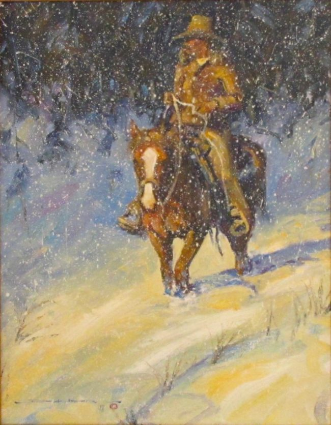 Dan Bodelson  Out From The Cold Oil on Canvas