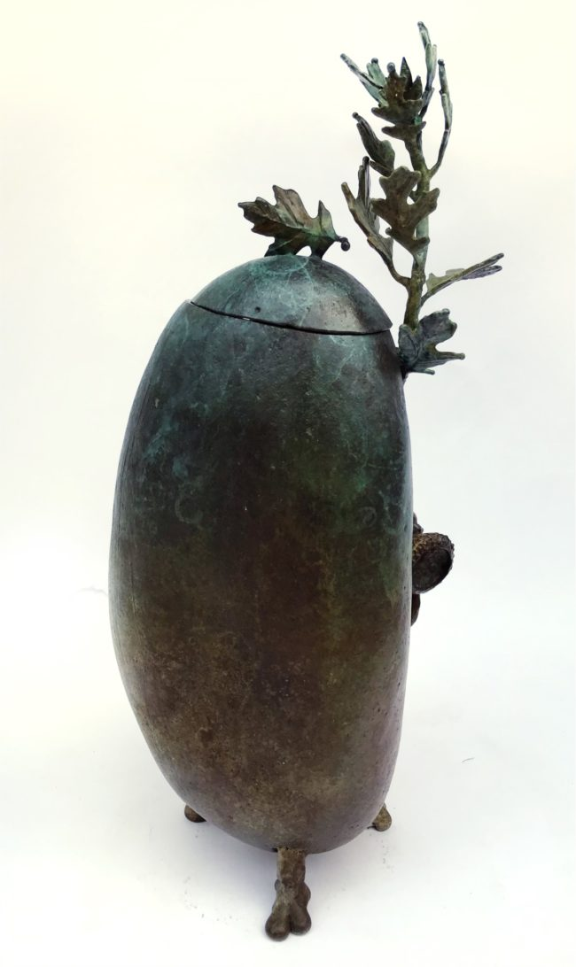 Dan Chen Sculpture Oak Rock - Container Bronze