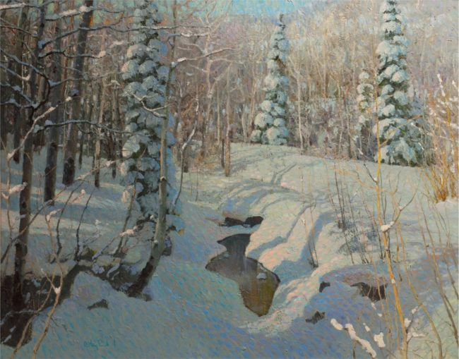 Gregory Packard Painting A Still Quiet Place Oil on Panel