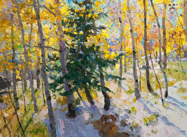 Gregory Packard Painting Autumn Vibrance Oil on Panel