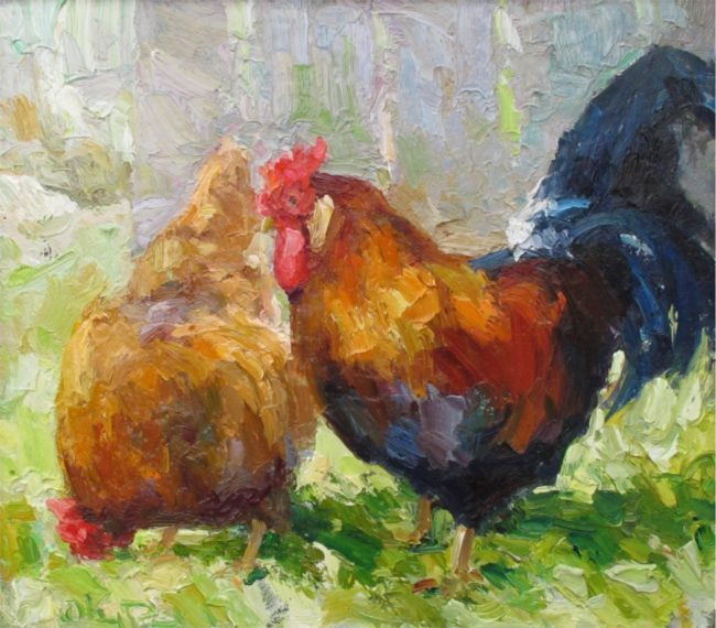 Gregory Packard Painting Free Range Oil on Panel