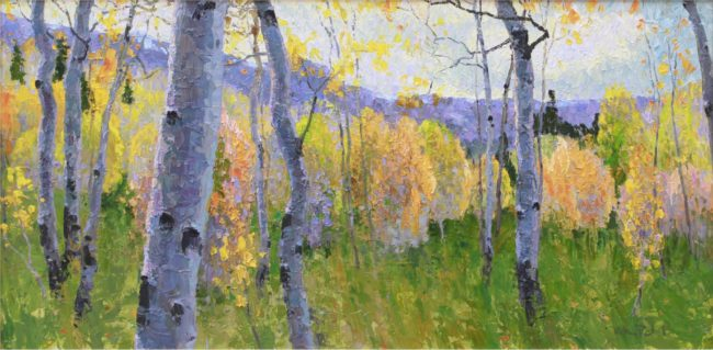Gregory Packard Painting Lovely Autumn Woods Oil on Panel