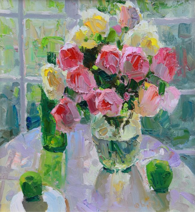 Gregory Packard Painting Sun Room Oil on Panel