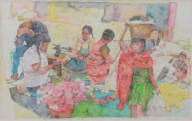 Herman Raymond Painting The Mood of Mexico Watercolor