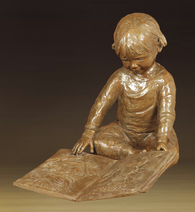 Jane Rankin Sculpture My Book Bronze