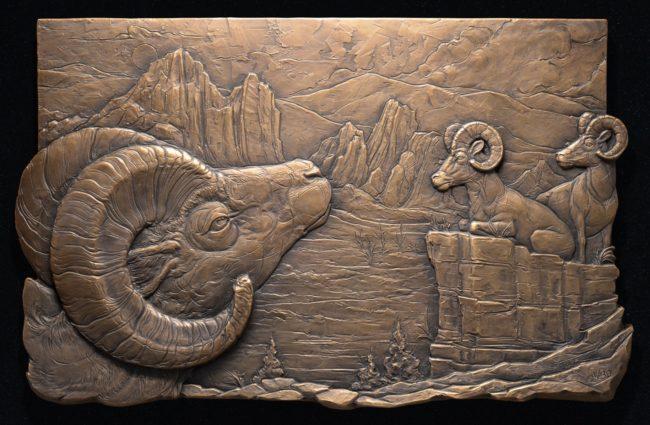 Jeremiah Welsh Sculpture Ridge Fire Refuge Bronze