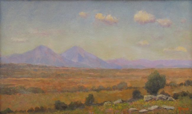 Jerry Malzahn Painting Spanish Peak from the Plains Oil on Board
