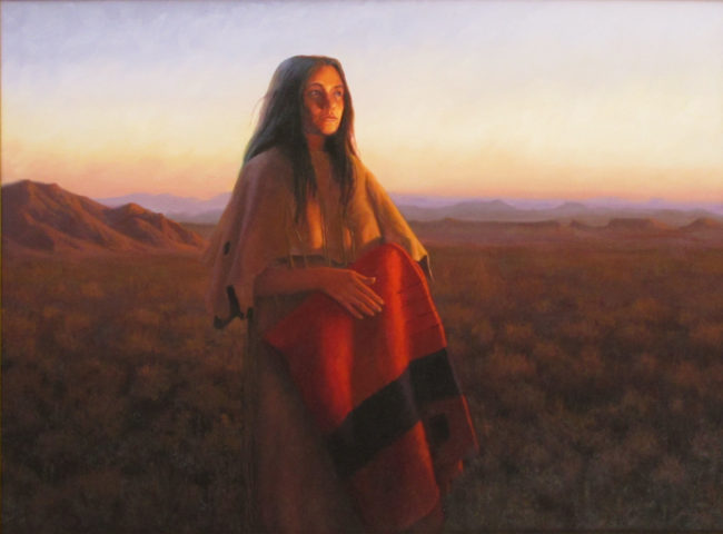 John Cox Painting Sunset in Powder Country Oil on Canvas