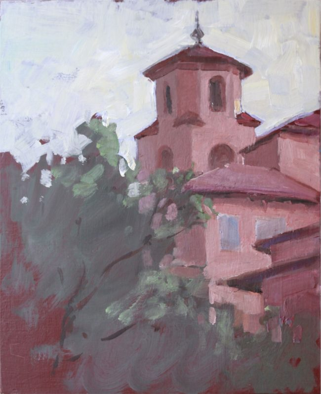 Jon Smith  Broadmoor Study 2 Oil on Board