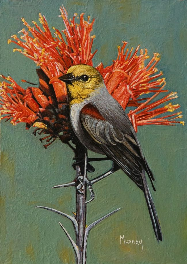 Karla Murray Painting Colorful Harmony Oil on Board
