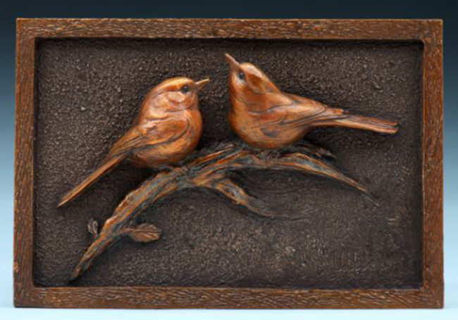 Kent Ullberg Sculpture Two Chicks Bronze